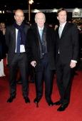 Eric Fellner Herbert Kretzmer and Tom Hooper attend the World Premiere of 'Les Miserables' at Odeon Leicester Square on December 5 2012 in London...
