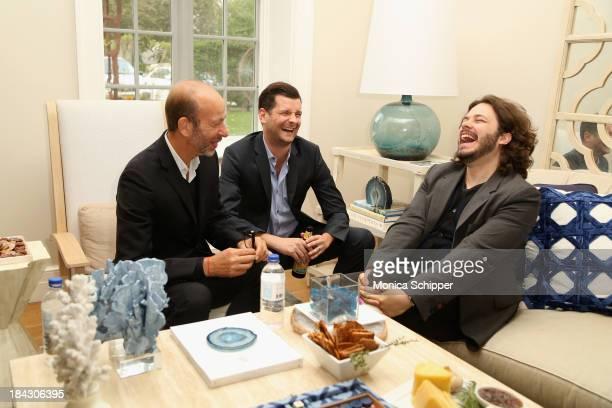Eric Fellner Luke Parker Bowles and Edgar Wright attend the 21st Annual Hamptons International Film Festival on October 12 2013 in East Hampton New...