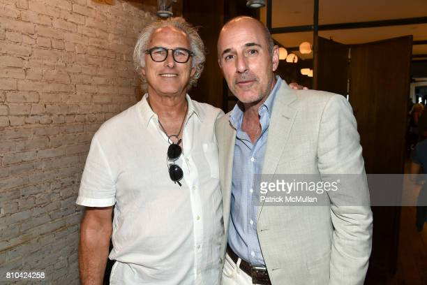 Eric Fischl and Matt Lauer attend eBay Hosts July 4th Benefit for Sag Harbor Cinema Restoration Project at Lulu Kitchen and Bar on July 3 2017 in Sag...