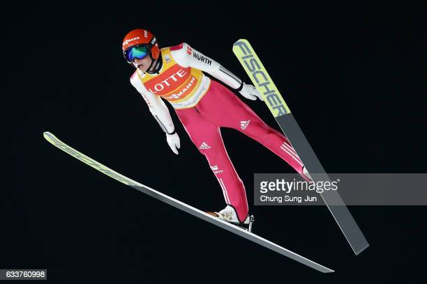 Eric Frenzel of Germany competes in the Individual Gundersen Large Hill 10km during the FIS Nordic Combined World Cup presented by Viessmann Test...