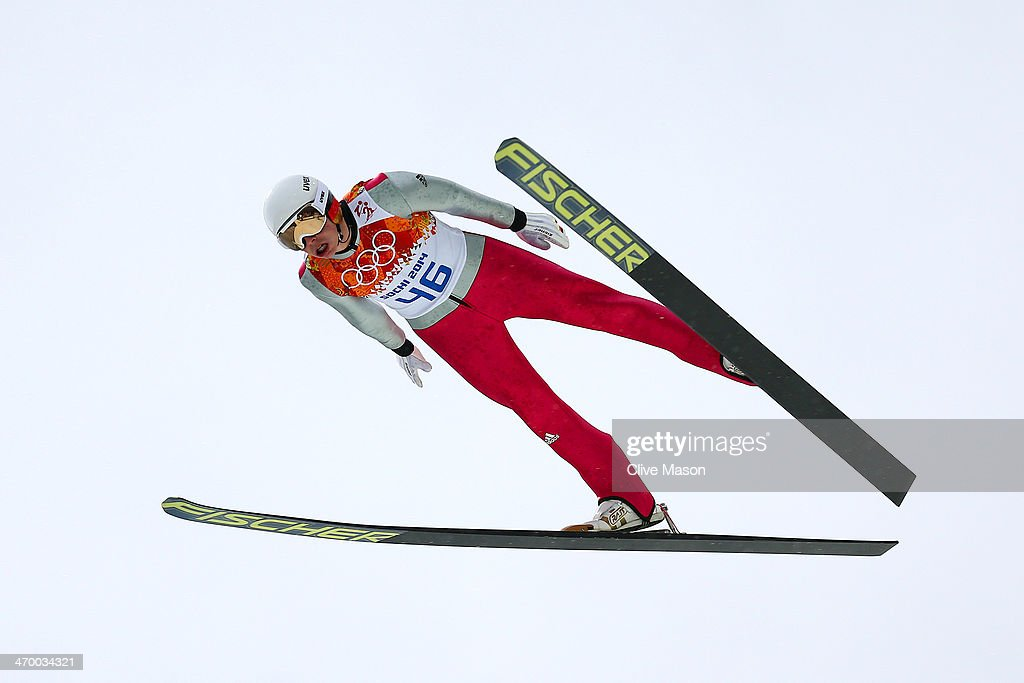 <a gi-track='captionPersonalityLinkClicked' href=/galleries/search?phrase=Eric+Frenzel&family=editorial&specificpeople=4595984 ng-click='$event.stopPropagation()'>Eric Frenzel</a> of Germany competes in the Nordic Combined Men's Individual LH during day 11 of the Sochi 2014 Winter Olympics at RusSki Gorki Jumping Center on February 18, 2014 in Sochi, Russia.