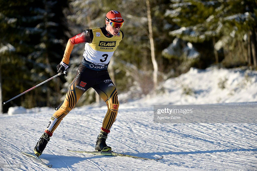 <a gi-track='captionPersonalityLinkClicked' href=/galleries/search?phrase=Eric+Frenzel&family=editorial&specificpeople=4595984 ng-click='$event.stopPropagation()'>Eric Frenzel</a> of Germany takes 1st place during the FIS Nordic Combined World Cup HS138/10km on December 06, 2014 in Lillehammer, Norway.