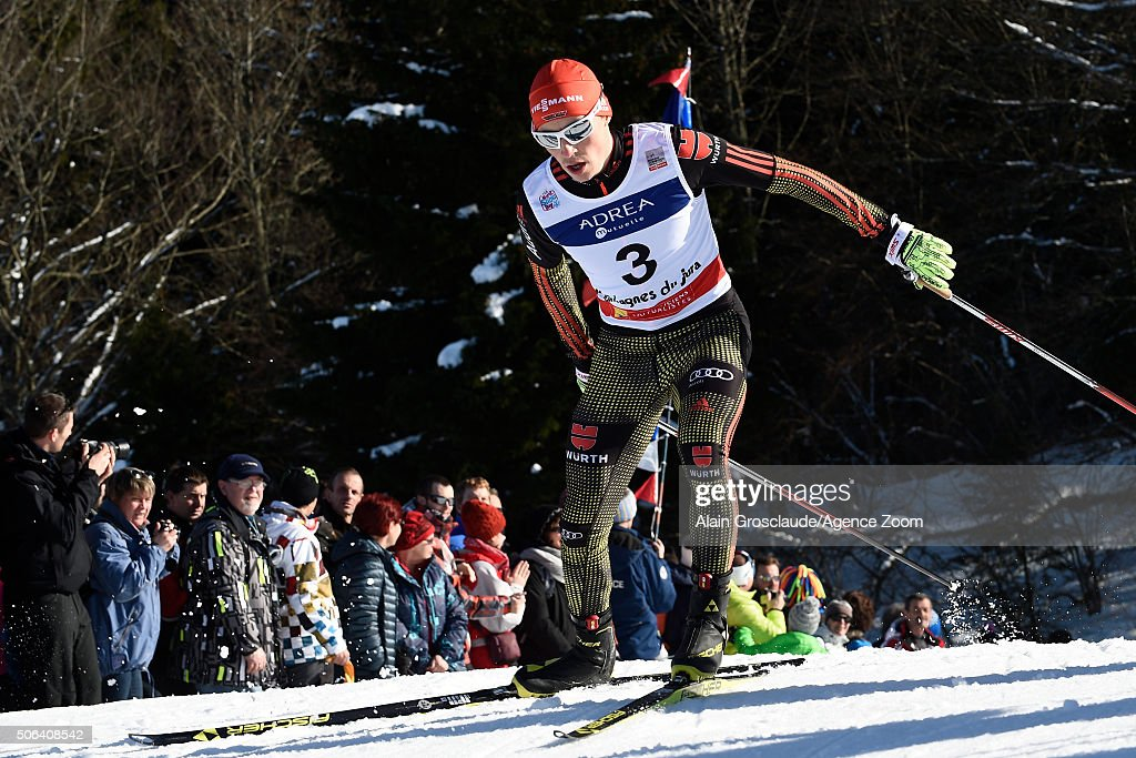 <a gi-track='captionPersonalityLinkClicked' href=/galleries/search?phrase=Eric+Frenzel&family=editorial&specificpeople=4595984 ng-click='$event.stopPropagation()'>Eric Frenzel</a> of Germany takes 1st place during the FIS Nordic World Cup Men's Nordic Combined HS118/10km on January 23, 2016 in Chaux-Neuve, France.