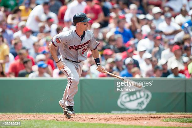 Eric Fryer of the Minnesota Twins bats during the game against the Boston Red Sox at Fenway Park on Wednesday June 18 2014 in Boston Massachusetts