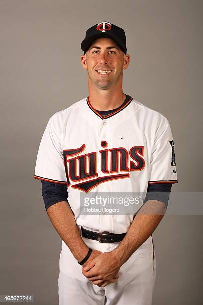Eric Fryer of the Minnesota Twins poses during Photo Day on Tuesday March 3 2015 at Hammond Stadium in Fort Myers Florida