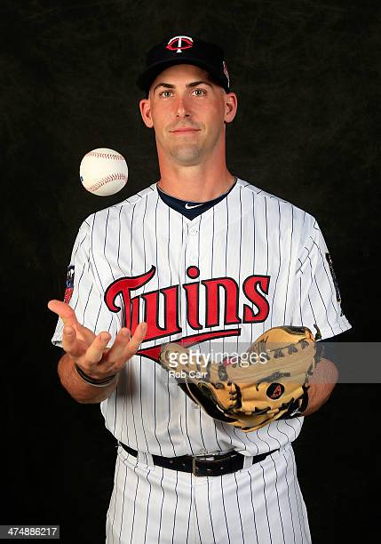 Eric Fryer of the Minnesota Twins poses for a portrait at Hammond Stadium during photo day on February 25 2014 in Fort Myers Florida