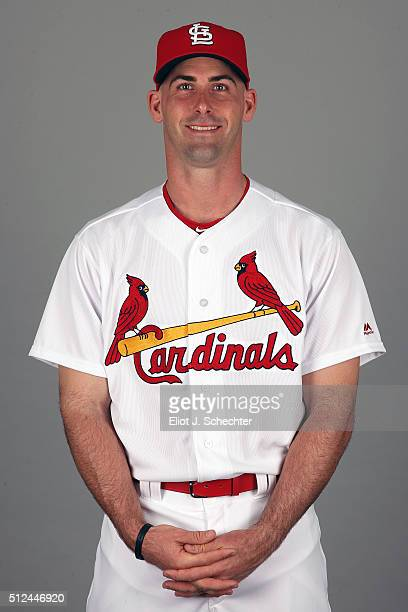 Eric Fryer of the St Louis Cardinals poses during Photo Day on Thursday February 25 2016 at Roger Dean Stadium in Jupiter Florida