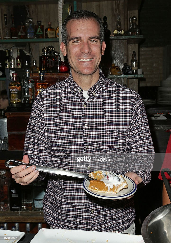 <a gi-track='captionPersonalityLinkClicked' href=/galleries/search?phrase=Eric+Garcetti&family=editorial&specificpeople=635706 ng-click='$event.stopPropagation()'>Eric Garcetti</a> attends PATH's 4th Annual Thanksgiving Meal at Pink Taco on November 22, 2012 in Los Angeles, California.