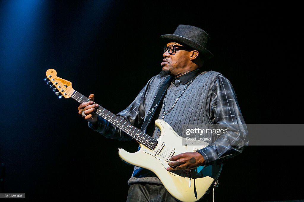 Eric Gayles performs during the Experience Hendrix 2014 Tour at The Fox Theatre on April 3, 2014 in Detroit, Michigan.