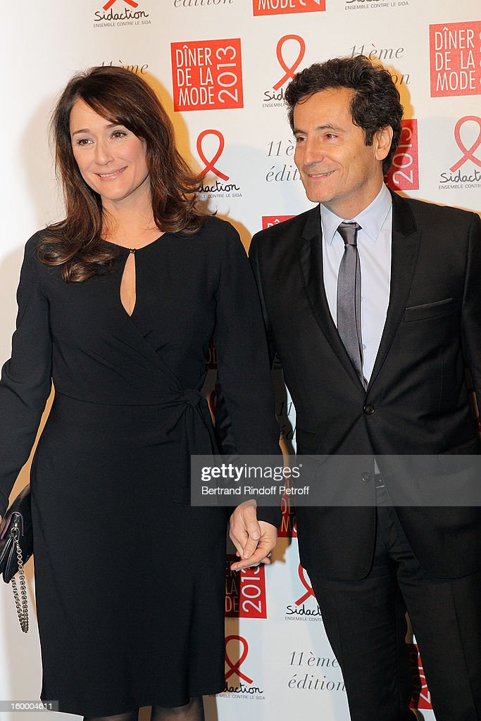 Eric Ghebali (R) and his wife Daniela Lumbroso attend the Sidaction Gala Dinner 2013 at Pavillon d'Armenonville on January 24, 2013 in Paris, France.