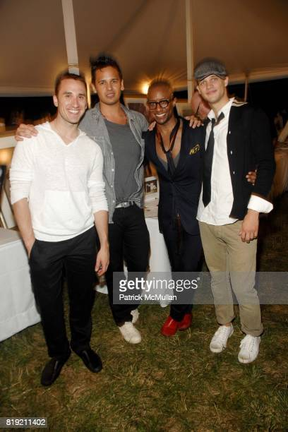 Eric Glawe Enrique Ordonez Terrence Charles and Billy Piciocco attend ACRIA's Annual 'Cocktails at Sunset' Presented by Calvin Klein Collection...
