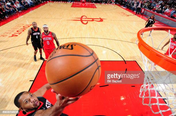 Eric Gordon of the Houston Rockets dunks against the New Orleans Pelicans on December 11 2017 at the Toyota Center in Houston Texas NOTE TO USER User...