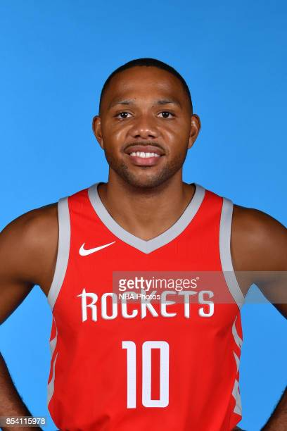 Eric Gordon of the Houston Rockets poses for a head shot during Media Day on September 25 2017 at the Toyota Center in Houston Texas NOTE TO USER...
