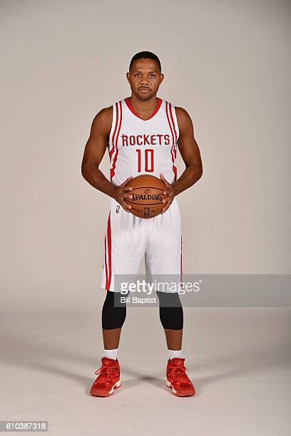 Eric Gordon of the Houston Rockets poses for a portrait during the 2016 NBA Media Day at the Toyota Center on September 24 2016 in Houston Texas NOTE...