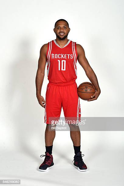 Eric Gordon of the Houston Rockets poses for a portrait on July 9 2016 at Toyota Center in Houston Texas NOTE TO USER User expressly acknowledges and...