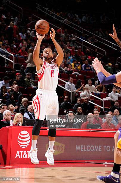 Eric Gordon of the Houston Rockets shoots the ball against the Los Angeles Lakers on December 7 2016 at the Toyota Center in Houston Texas NOTE TO...