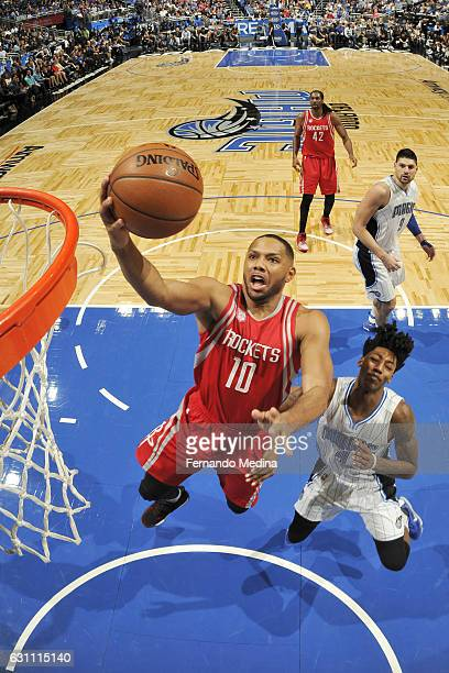 Eric Gordon of the Houston Rockets shoots the ball against the Orlando Magic on January 6 2017 at the Amway Center in Orlando Florida NOTE TO USER...