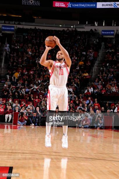 Eric Gordon of the Houston Rockets shoots the ball against the Miami Heat on February 15 2017 at the Toyota Center in Houston Texas NOTE TO USER User...