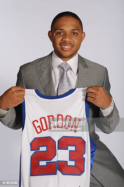 Eric Gordon of the Los Angeles Clippers poses for a photo on July 2 2008 at Staples Center in Los Angeles California NOTE TO USER User expressly...