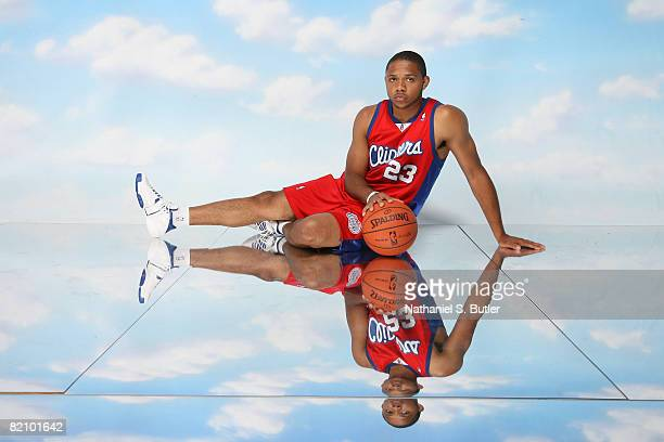 Eric Gordon of the Los Angeles Clippers poses for a portrait during the 2008 NBA Rookie Photo Shoot on July 29 2008 at the MSG Training Facility in...