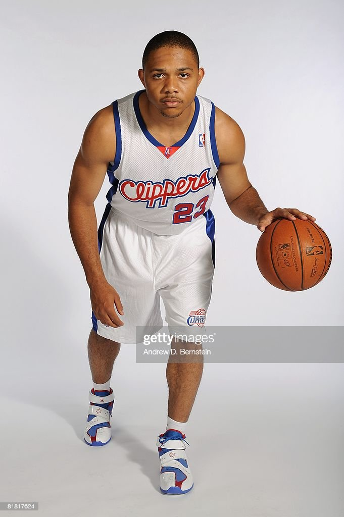 Eric Gordon #23 of the Los Angeles Clippers poses for a portriat on July 2, 2008 at Staples Center in Los Angeles, California.