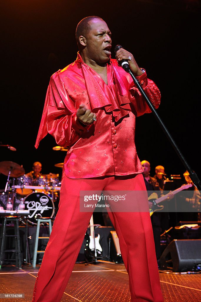 Eric Grant of The O Jays performs at Hard Rock Live! in the Seminole Hard Rock Hotel & Casino on February 14, 2013 in Hollywood, Florida.