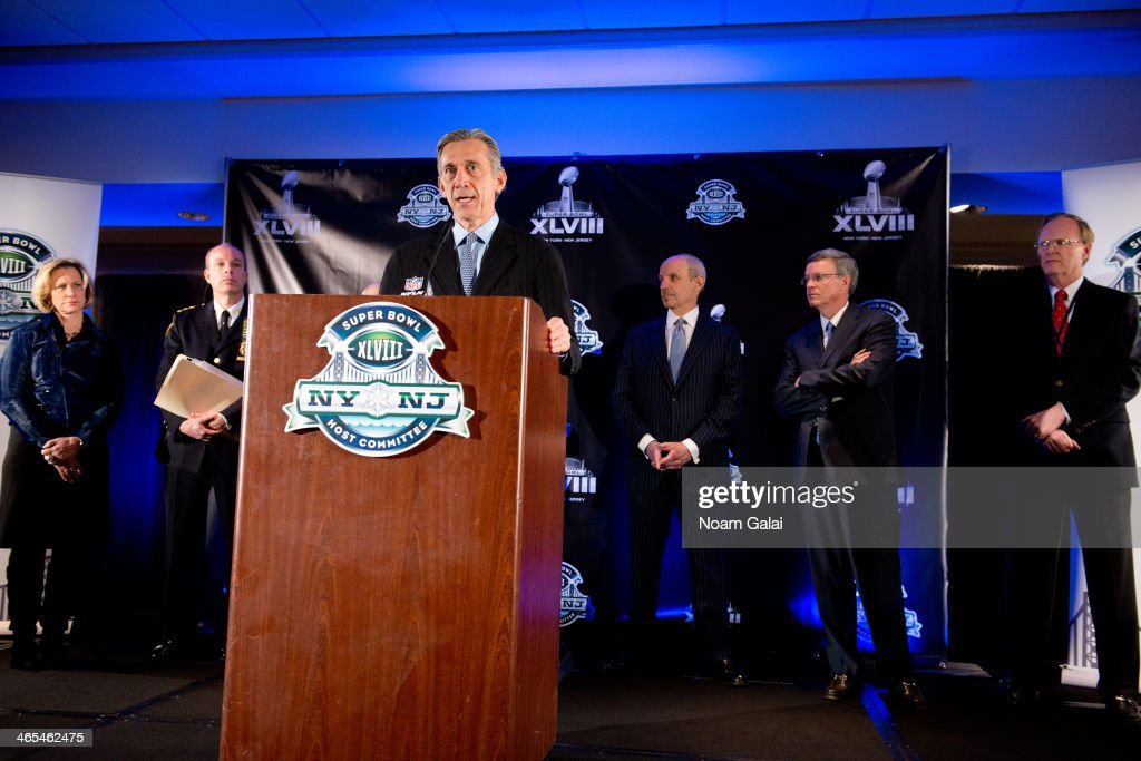 Eric Grubman Executive Vice President for the National Football League attends the Super Bowl XLVIII Week Opening Press Conference at Super Bowl...