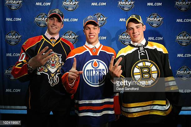 Eric Gudbranson drafted third overall by the Florida Panthers Taylor Hall drafted first overall by the Edmonton Oilers and Tyler Seguin drafted...