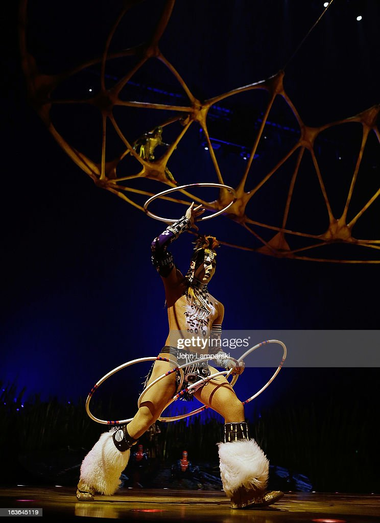 Eric Hernandez performs at 'Cirque Du Soleil's Totem' Dress Rehearsal at Citi Field on March 13 2013 in New York City