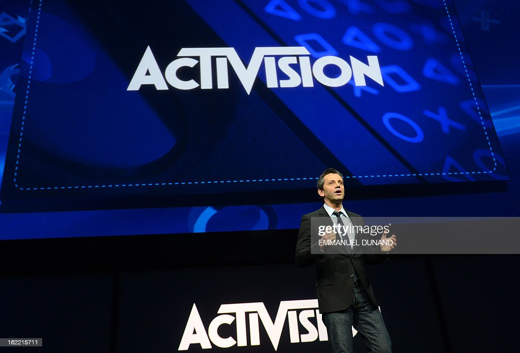 Eric Hirshberg, Chief Executive Officer of Activision Publishing, talks as Sony introduces the PlayStation 4 at a news conference February 20, 2013 in New York.
