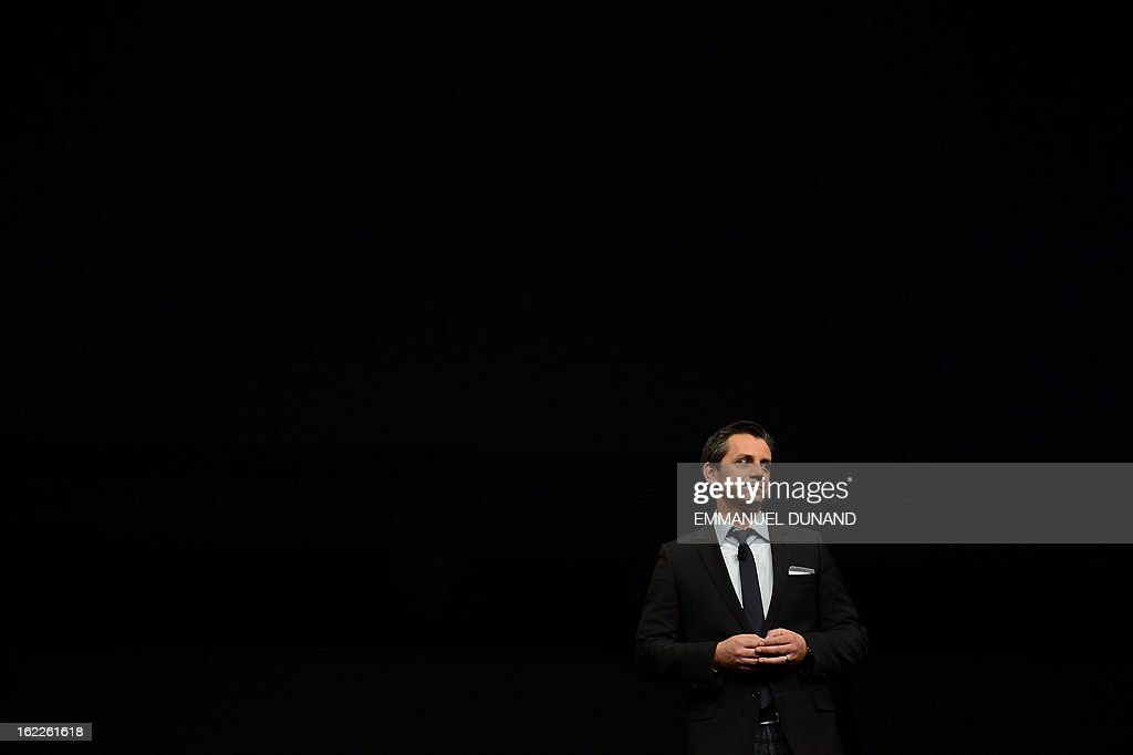 Eric Hirshberg, Chief Executive Officer of Activision Publishing, talks as Sony introduces the PlayStation 4 at a news conference February 20, 2013 in New York. AFP PHOTO/EMMANUEL DUNAND