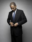 Eric Holder Attorney General of the United States poses at a portrait session on February 20 2009