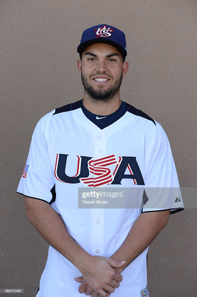 <a gi-track='captionPersonalityLinkClicked' href=/galleries/search?phrase=Eric+Hosmer&family=editorial&specificpeople=7091345 ng-click='$event.stopPropagation()'>Eric Hosmer</a> #35 of Team USA poses for a headshot for the 2013 World Baseball Classic on Wednesday, March 6, 2013 at Salt River Fields at Talking Stick in Scottsdale, Arizona.