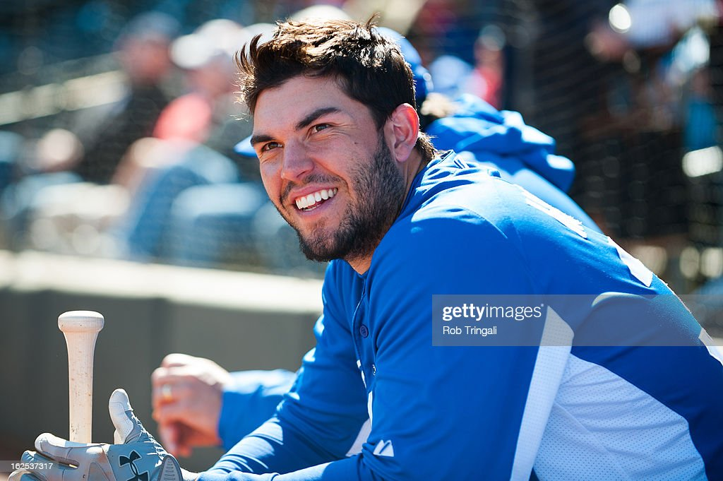 <a gi-track='captionPersonalityLinkClicked' href=/galleries/search?phrase=Eric+Hosmer&family=editorial&specificpeople=7091345 ng-click='$event.stopPropagation()'>Eric Hosmer</a> #35 of the Kansas City Royals looks on before a spring training game against the Texas Rangers at Surprise Stadium on February 24, 2013 in Surprise, Arizona.