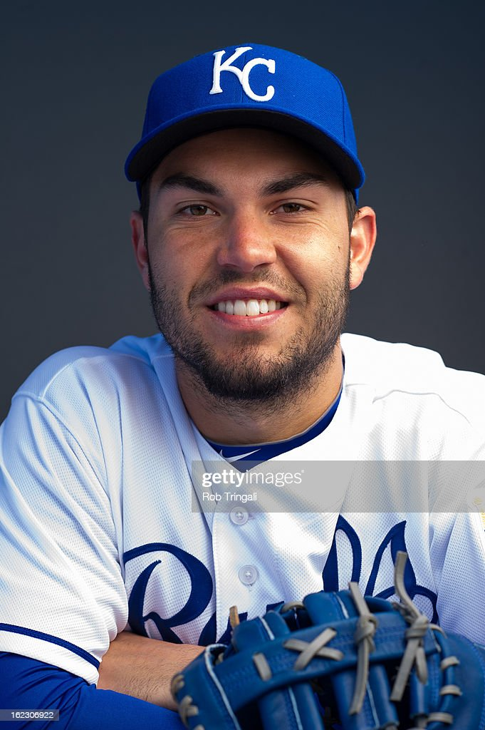 <a gi-track='captionPersonalityLinkClicked' href=/galleries/search?phrase=Eric+Hosmer&family=editorial&specificpeople=7091345 ng-click='$event.stopPropagation()'>Eric Hosmer</a> #35 of the Kansas City Royals poses for a portrait on photo day at the Surprise Sports Complex on February 21, 2013 in Surprise, Arizona.