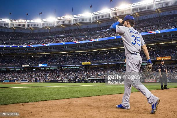 Eric Hosmer of the Kansas City Royals takes the field during the game against the New York Yankees at Yankee Stadium on Tuesday May 26 2015 in the...