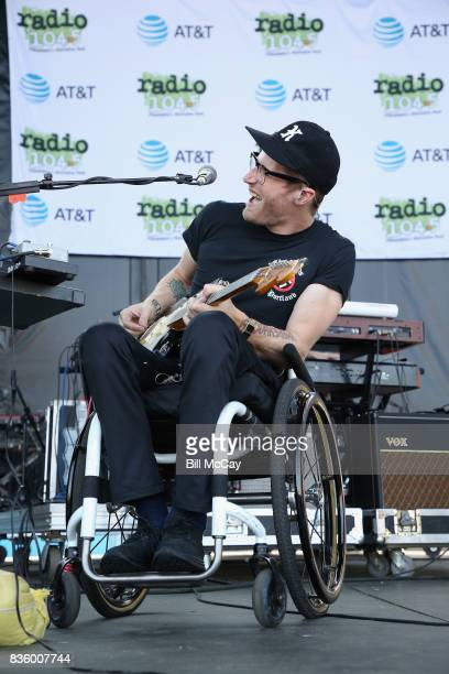 Eric Howk and of the band Portugal The Man performs at the Radio 1045 Summer Block Party August 20 2017 in Philadelphia Pennsylvania