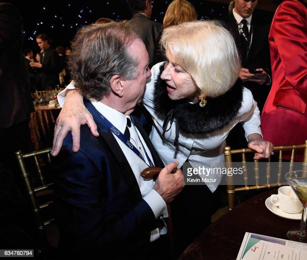 Eric Idle and Helen Mirren attend MusiCares Person of the Year honoring Tom Petty at the Los Angeles Convention Center on February 10 2017 in Los...