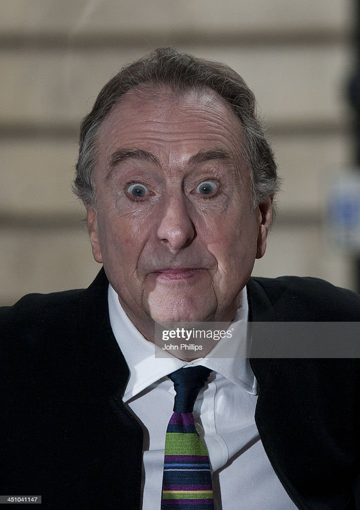 <a gi-track='captionPersonalityLinkClicked' href=/galleries/search?phrase=Eric+Idle&family=editorial&specificpeople=213355 ng-click='$event.stopPropagation()'>Eric Idle</a> during photograph ahead of a press conference in central London on November 21, 2013 in London, England.