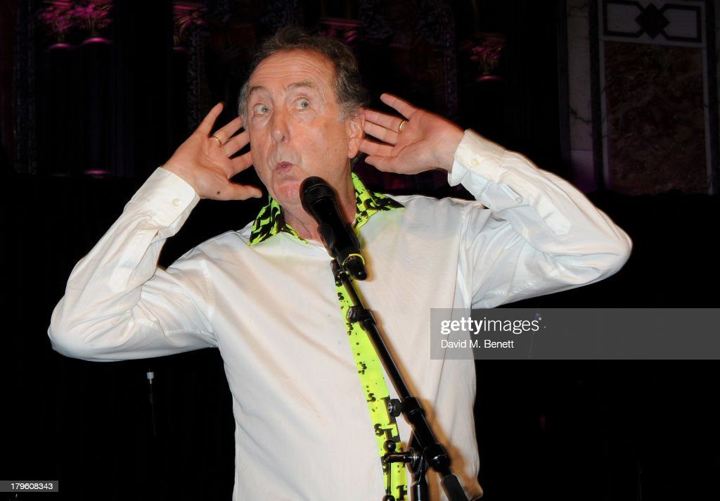 <a gi-track='captionPersonalityLinkClicked' href=/galleries/search?phrase=Eric+Idle&family=editorial&specificpeople=213355 ng-click='$event.stopPropagation()'>Eric Idle</a> performs at the Queen AIDS Benefit in support of The Mercury Phoenix Trust at One Mayfair on September 5, 2013 in London, England.