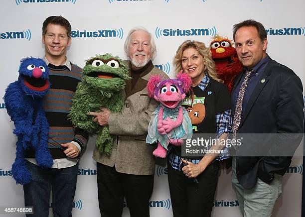 Eric Jacobson 'Grover Bert' Caroll Spinney 'Oscar and Big Bird' Leslie CarraraRudolph 'Abby Cadabby' and Joey Mazzarino 'Murray Monster' and Head...