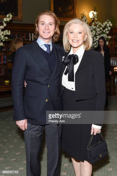 Eric Javits Jr and Audrey Gruss attend Audrey Gruss' Hope for Depression Research Foundation Dinner with Author Daphne Merkin at The Metropolitan...