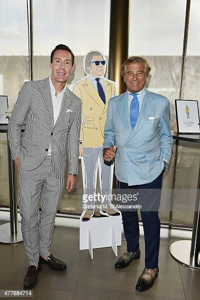 Eric Jennings and Lino Ieluzzi attend 'Saks Fifth Avenue Celebrates Italian Style' Cocktail Party during 88 Pitti Uomo on June 18 2015 in Florence...
