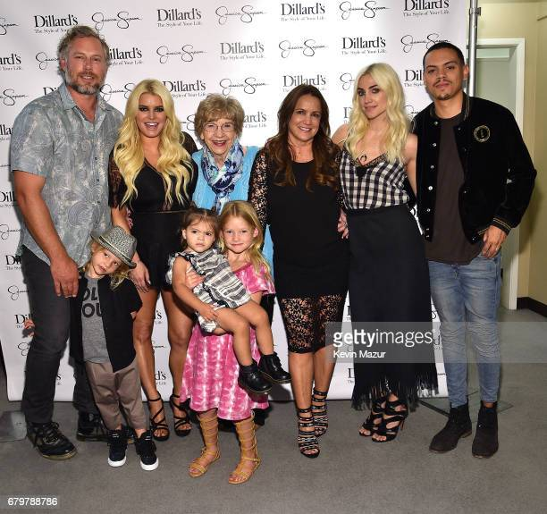 Eric Johnson Ace Knute Johnson Jessica Simpson wearing Jessica Simpson Collection Maxwell Drew Johnson wearing Jessica Simpson Girls Jagger Snow Ross...