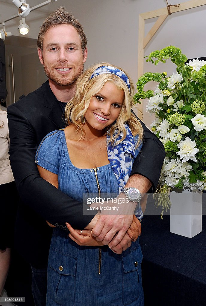 Eric Johnson and Jessica Simpson attend a launch event and press preview for the Spring 2011 Jessica Simpson Collection 'Show Me Your Blues'...