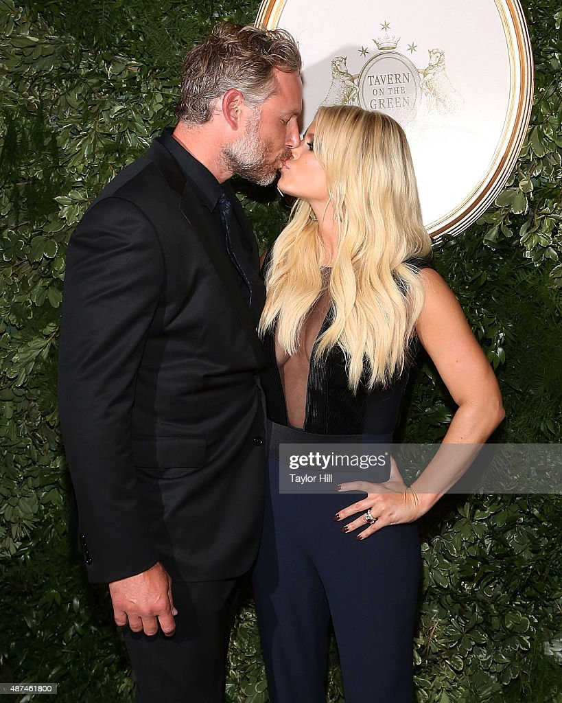 Eric Johnson and Jessica Simpson attend Jessica Simpson Collection Presentation Spring 2016 New York Fashion Week at Tavern on the Green on September...