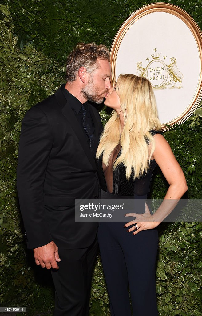 Eric Johnson and Jessica Simpson attend the 10th Anniversary Celebration of the Jessica Simpson Collection at Tavern on the Green on September 9 2015...
