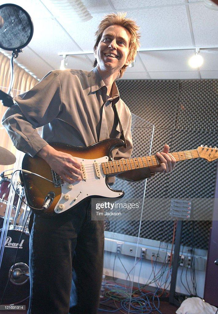 Eric Johnson performs during Eric Johnson Performs at KBCO at KBCO Studio C in Boulder Colorado United States