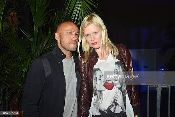 Eric Judor and Anna Sherbinina attend the 'Balsao WareHouse' Party At Docks De Paris Aubervilliers on April 10 2014 in Paris France