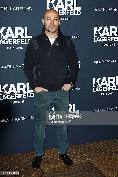 Eric Judor attends the Karl Lagerfeld New Perfume launch party at Palais Brongniart on March 11 2014 in Paris France